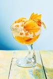 Delicious ice cream sundae in glass Stock Photography