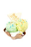 Delicious ice cream wafer Royalty Free Stock Photography