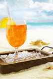 Delicious iced aperol spritz Royalty Free Stock Photography