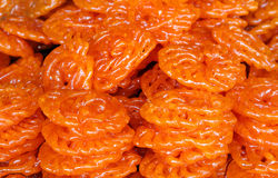 Delicious Indian sweet jalebi Royalty Free Stock Photography