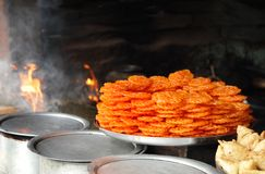 Delicious Indian sweet jalebi Royalty Free Stock Image