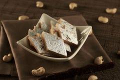 Free Delicious Indian Sweet Kaju Katli In A White Bowl Royalty Free Stock Photography - 183313657