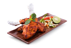 Free Delicious, Indian Tandoori Chicken Served With Salad Stock Photography - 57818562