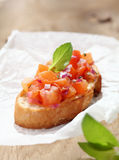 Delicious Italian bruschetta Stock Photography