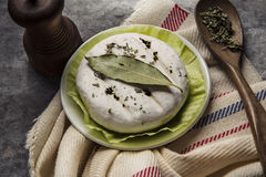 Delicious italian cheese tomino with bacon grilled Stock Images