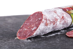 Delicious italian felino salami stick. Stock Image