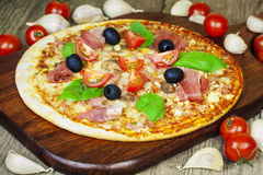 Delicious Italian fresh pizza Royalty Free Stock Image