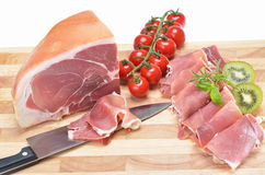 Delicious italian ham royalty free stock images