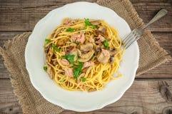 Delicious italian pasta Stock Photos
