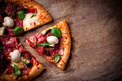 Delicious italian pizza Royalty Free Stock Photos