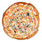 Delicious italian pizza Royalty Free Stock Images