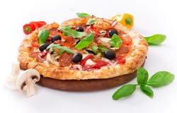 Delicious italian pizza Stock Images