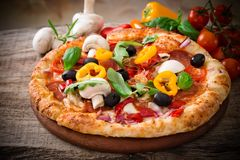 Delicious italian pizza Stock Images