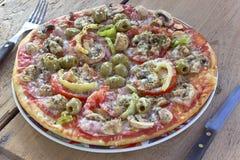 Delicious italian pizza Stock Image