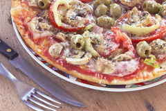 Delicious italian pizzas Royalty Free Stock Image