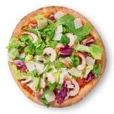 Delicious italian primavera pizza Royalty Free Stock Photos