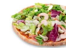Delicious italian primavera pizza Royalty Free Stock Image