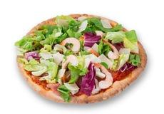 Delicious italian primavera pizza Stock Photography