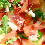 Delicious Italian prosciutto and rocket Royalty Free Stock Photos