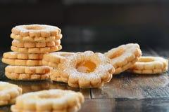 Delicious jam cookies Stock Photos
