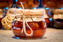 Delicious jam in the jar of homemade Stock Image