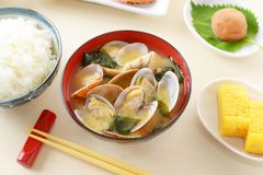 Delicious Japanese cuisines. On the dining table stock photo