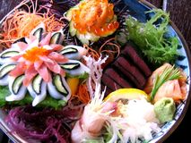 Delicious Japanese Sashimi. The art of raw fish, Sashimi at its best Stock Images