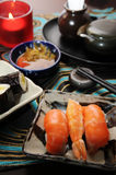 Japanese Food Sashimi. A Delicious Japanese Sashimi serve on table royalty free stock image