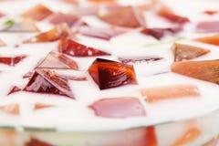 Delicious jelly cake Royalty Free Stock Photos