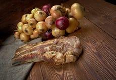 Delicious Jerk  pork belly Stock Image