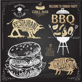 Delicious juicy burger. Sketch illustration. Delicious juicy burger. Sketch vintage illustration eps10 Stock Photography