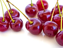 Delicious Juicy Cherries Stock Photo