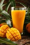 Delicious ,juicy Mango Smoothie Royalty Free Stock Photos
