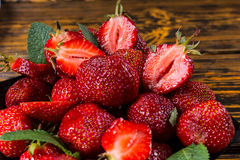Delicious juicy ripe red strawberries Royalty Free Stock Photography