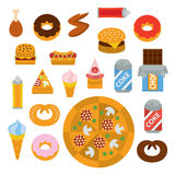 Delicious junk food Royalty Free Stock Photography