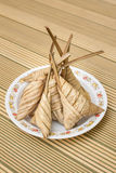 Delicious Ketupat Daun Palas ready to eat on Eid Festival Stock Image