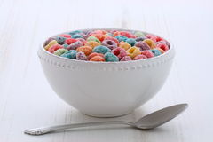 Delicious kids cereal loops Royalty Free Stock Photography