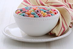 Delicious kids cereal loops Stock Images