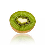 Delicious kiwi. With heart inside stock images