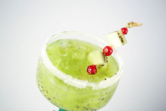 Delicious kiwi cocktail. In studio Stock Images