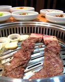 Delicious Korean barbecue. Delicious Korean specialty barbecue meat Stock Photography