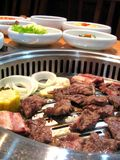Delicious Korean barbecue. Delicious Korean specialty barbecue meat stock images