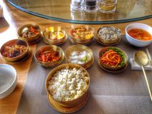 Delicious Korean food colourful North Korean cuisine Stock Photo