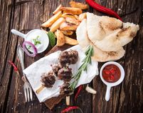 Delicious lamb kebab Stock Image