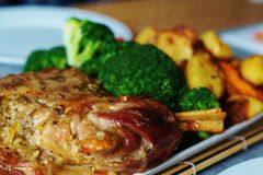 Delicious. Lamb with Veg's Stock Image