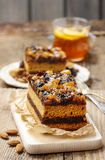 Delicious layer gingerbread cake Stock Images