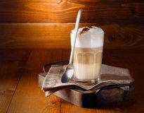 Delicious layered latte macchiato coffee Royalty Free Stock Image