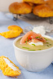 Delicious leek cream soup Stock Images