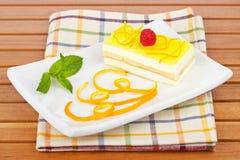 Delicious lemon cake Royalty Free Stock Photo