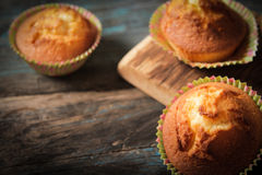 Delicious lemon muffins with tea and coffee. Romantic mood stock images